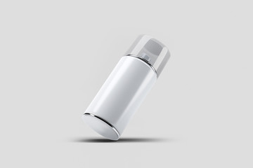 Blank Bottle Mock up with sprayer cap. Cosmetic deodorant template or freshener.Realistic photo. 3D rendering