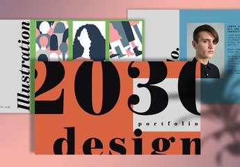 Portfolio Presentation Layout with Photo Placeholders
