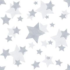 Silver star seamless pattern