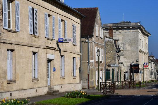 Magny en Vexin; France - april 3 2017 : historical centre of the city