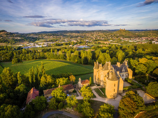 Montal castle in Dordogne valley in France
