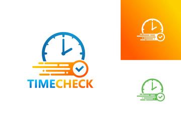 Time Check Logo Template Design Vector, Emblem, Design Concept, Creative Symbol, Icon