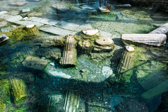 world locations,Asia,Europe,turkey, aegean, pamukkale, hot spring, cleopatra pool