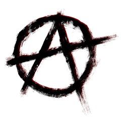 Anarchy symbol. Vector sign. Vector illustration.