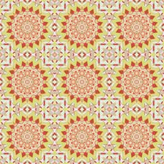 Abstract geometric mandala seamless pattern. Print, cloth design, wallpaper. Vector illustration. Home  decor, interior design, cloth design.