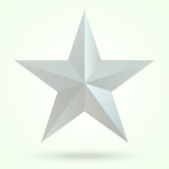 3D five-pointed star on a gradient background with shadow.