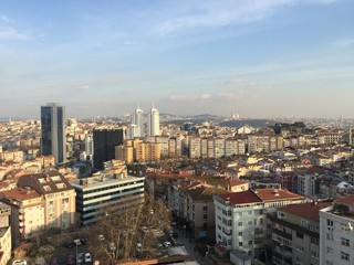 Istanbul city view at sunset