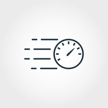 Speed Measurement icon from measurement icons collection. Creative element design speed measurement icon. Web design, apps, software usage. UI and UX