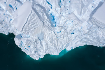 Aerial view of Avalanche Glacier in Antarctica