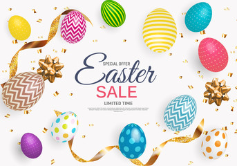 Abstract Easter Sale Template Background Vector Illustration