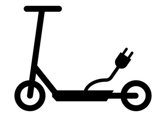 gz340 GrafikZeichnung - siwb548 SignIsolatedWhiteBackground siwb - german - Elektrokleinstfahrzeuge: e-scooter - english: electric scooter - simple template - DIN A4 - xxl g7268