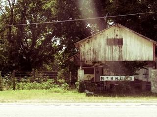 Abandoned roadside shop