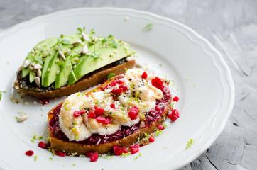 Healthy sandwich for breakfast, snack or lunch