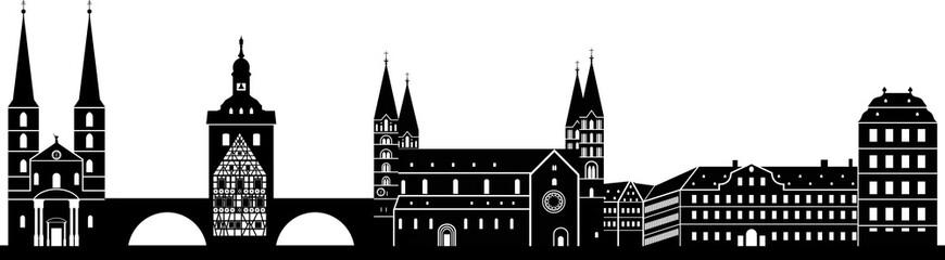 Bamberg skyline detailliert // Vektor