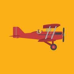 Retro airplane, vector illustration.