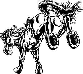 Mustang Kick Mascot Vector Illustration