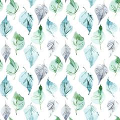 Foliate watercolor pattern