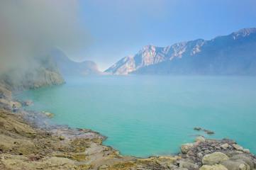Indonesia, Java, acid Ijen crater lake