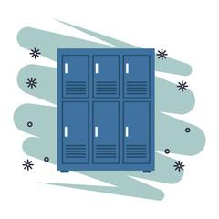Fototapeta lockers icon isolated obraz