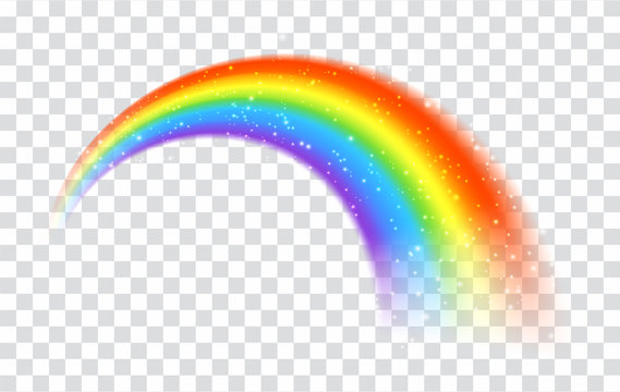 Rainbow icon isolated on transparent background
