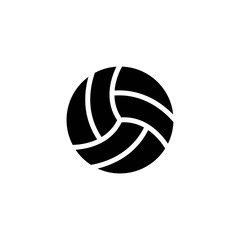 volley ball glyph vector icon