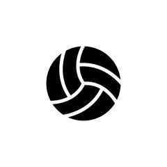 volley ball glyph vector icon