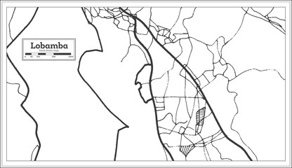 Lobamba Swaziland City Map in Retro Style. Outline Map.