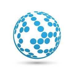 Sphere globe icon.