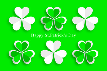 Clover,St.Patrick's Day,Green Background, Design Element,