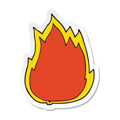 sticker of a cartoon fire