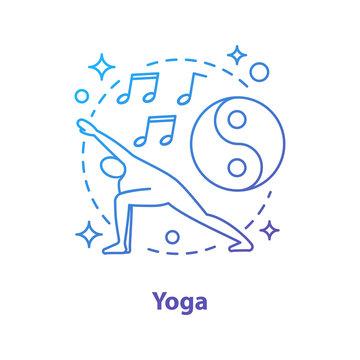 Yoga concept icon
