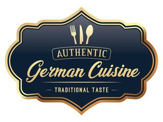 Authentic German Cuisine Label