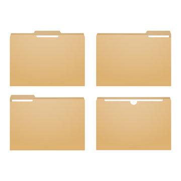 Manila file. Paper folder case. Paperwork binder.