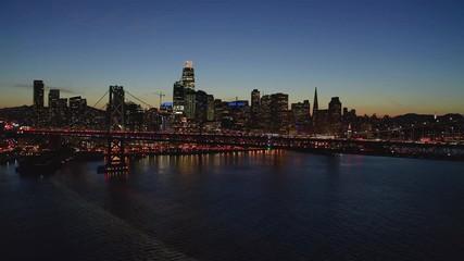 Fototapete - San Francisco downtown buildings skyline aerial
