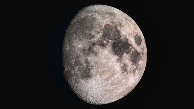 The beauty of the universe: Wonderful super detailed waxing gibbous Moon