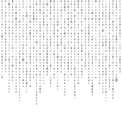 Binary Code Background Vector. Black And White Background With Digits On Screen. Vector Background Illustration.