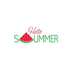 Hello summer vector illustration