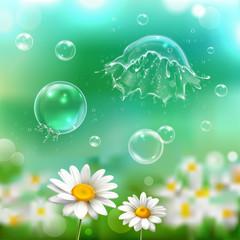 Bubbles Explosion Realistic Background