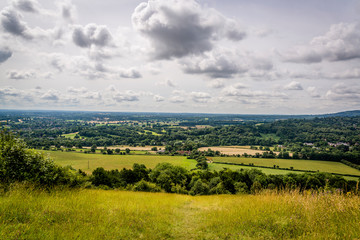 The Mole valley in Surrey, situated between the North Downs and the Greensand Ridge, England, UK