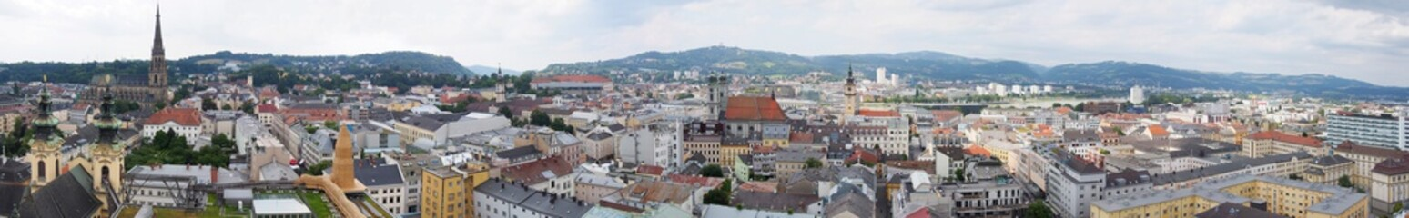 panorama of Linz, upper austria