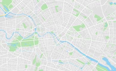 Berlin, Germany downtown street map