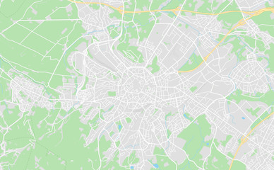 Aachen, Germany downtown street map