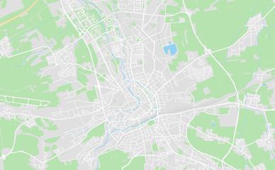 Erfurt, Germany downtown street map