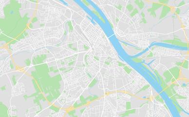 Mainz, Germany downtown street map