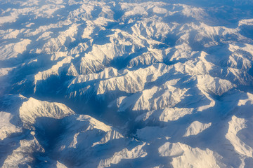 Aerial view of the Pyrenees