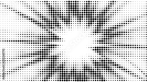 """""""Halftone Gradient Explosion Pattern. Abstract Halftone"""