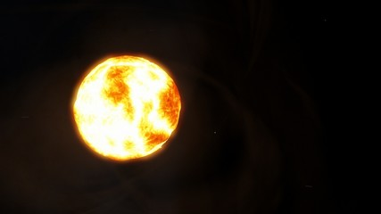 Exoplanet 3d illustration. Sun. It is the star at the center of the Star System. (Elements of this image furnished by NASA.)