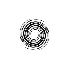 spiral tornado logo icon vector illustration