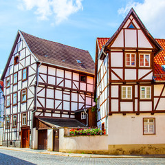 Wall Mural - Old fachwerk houses in Quedlinburg