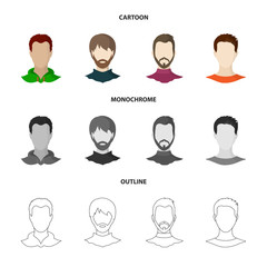 Vector illustration of professional and photo logo. Collection of professional and profile stock vector illustration.